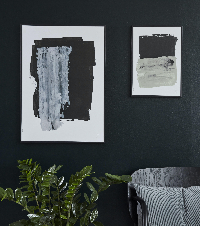 I LOVE MY TYPE plakater af abstrakt kunst i mørke farver