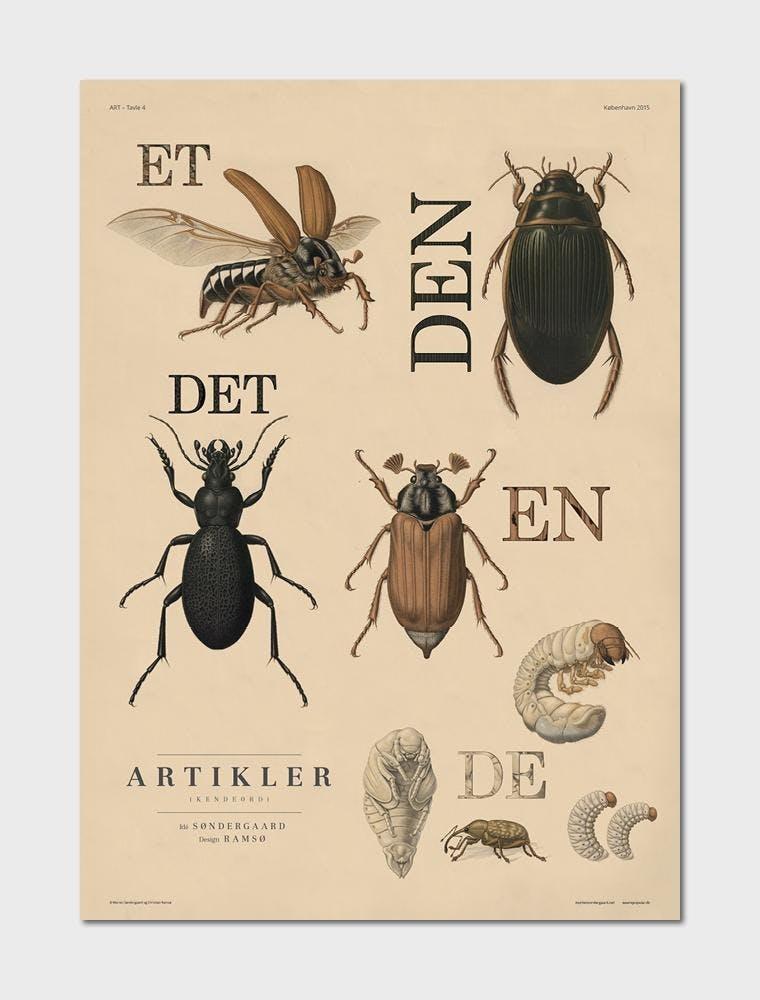 PLOXX retro plakat af dyr og bogstaver