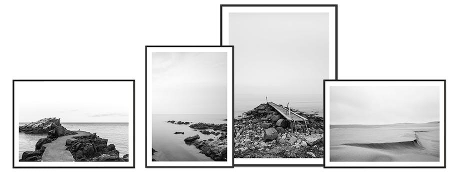 Foto Factory sort/hvid natur plakater