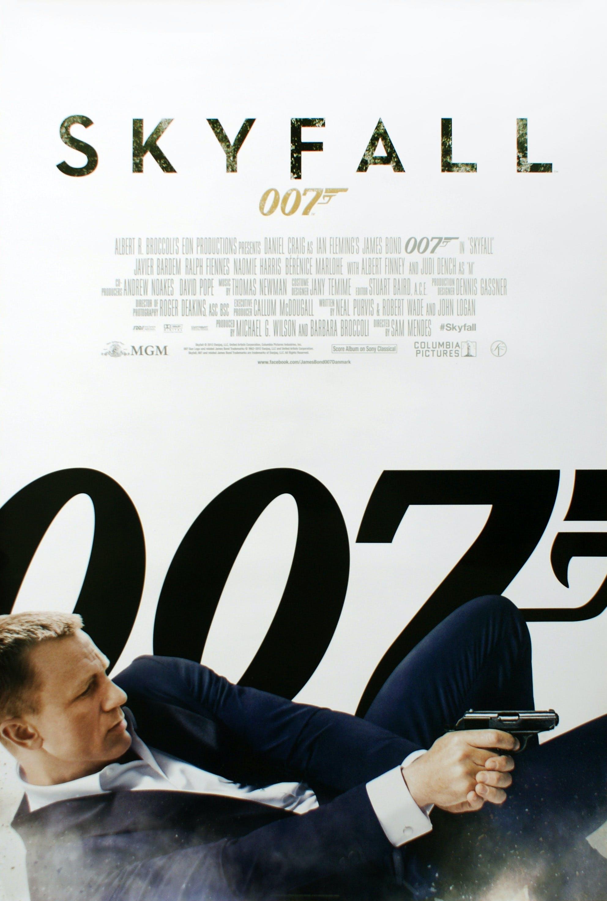 movieposter plakat af 007 skyfall daniel craig