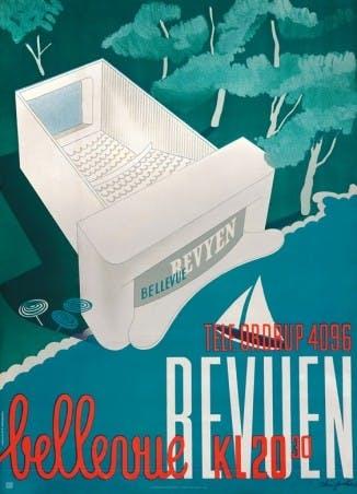Dansk Plakatkunst arne jacobsen plakat af bellevue revyen