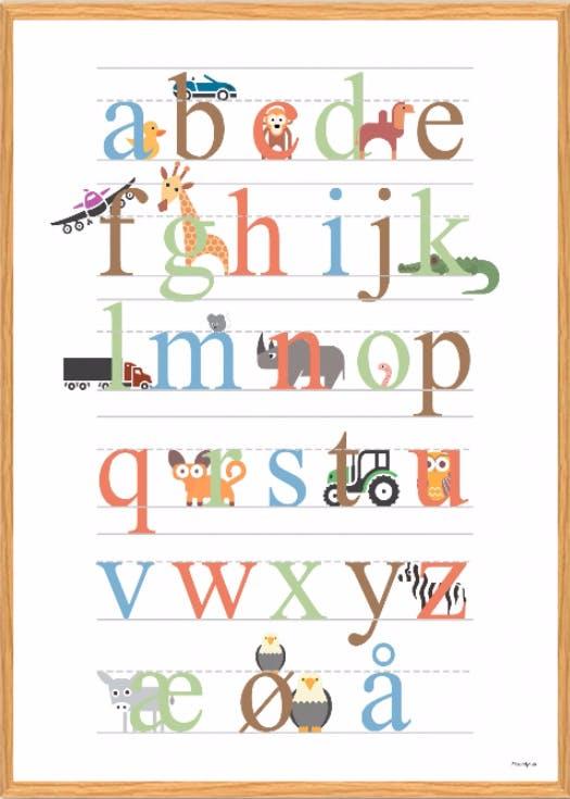plakatdyr.dk plakat af bogstaver for børn