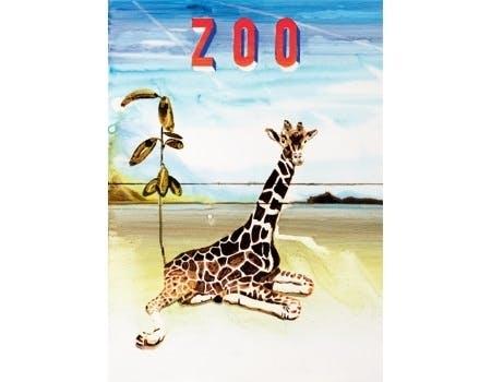 Erik A. Frandsens plakat af en giraf i zoo