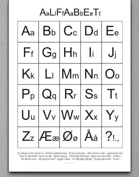 grafisk plakat med bogstaver