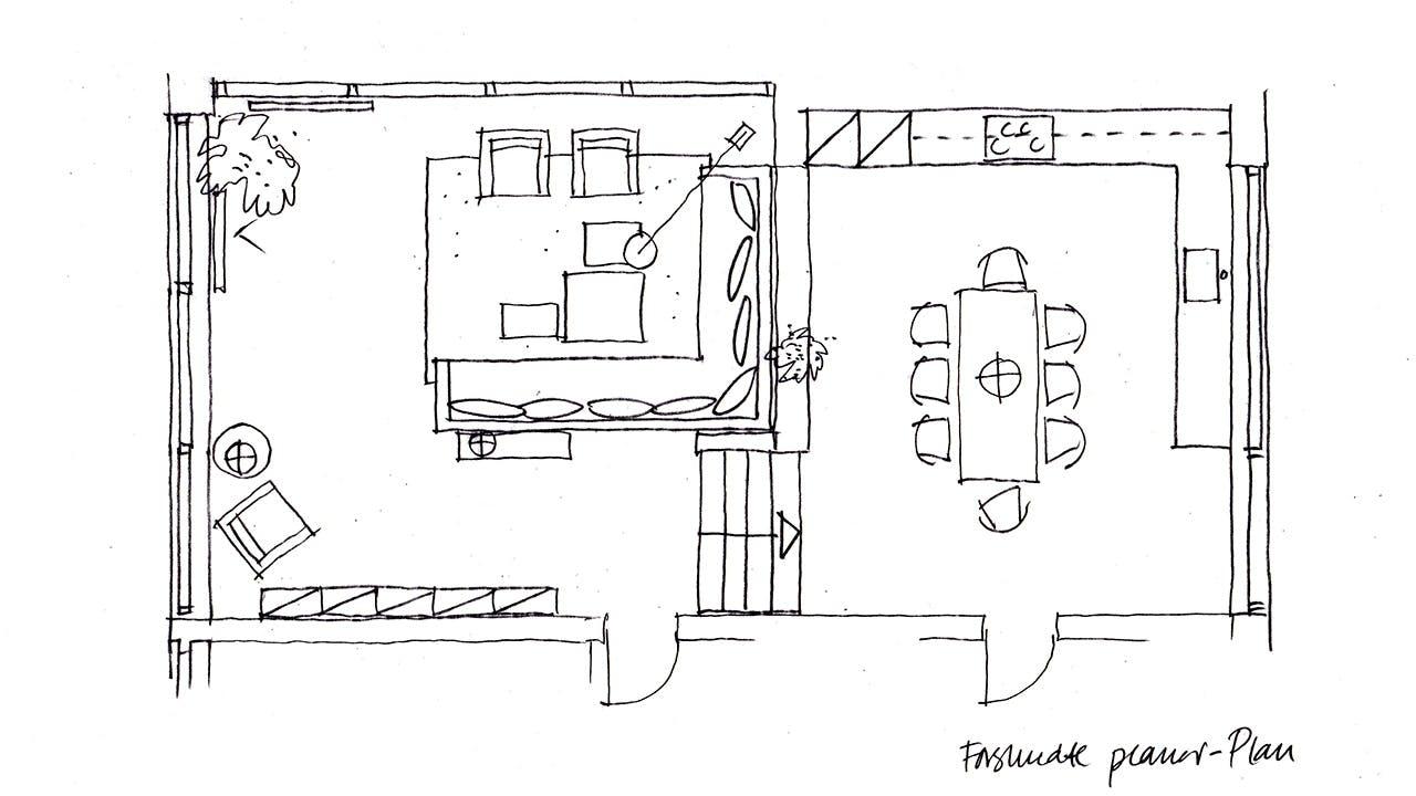 gulv til loft vinduer plantegning