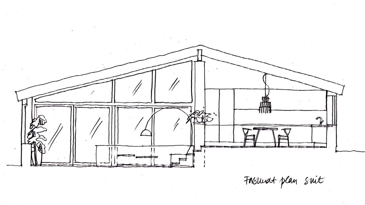 indretningstips gulv til loft vinduer facade plantegning