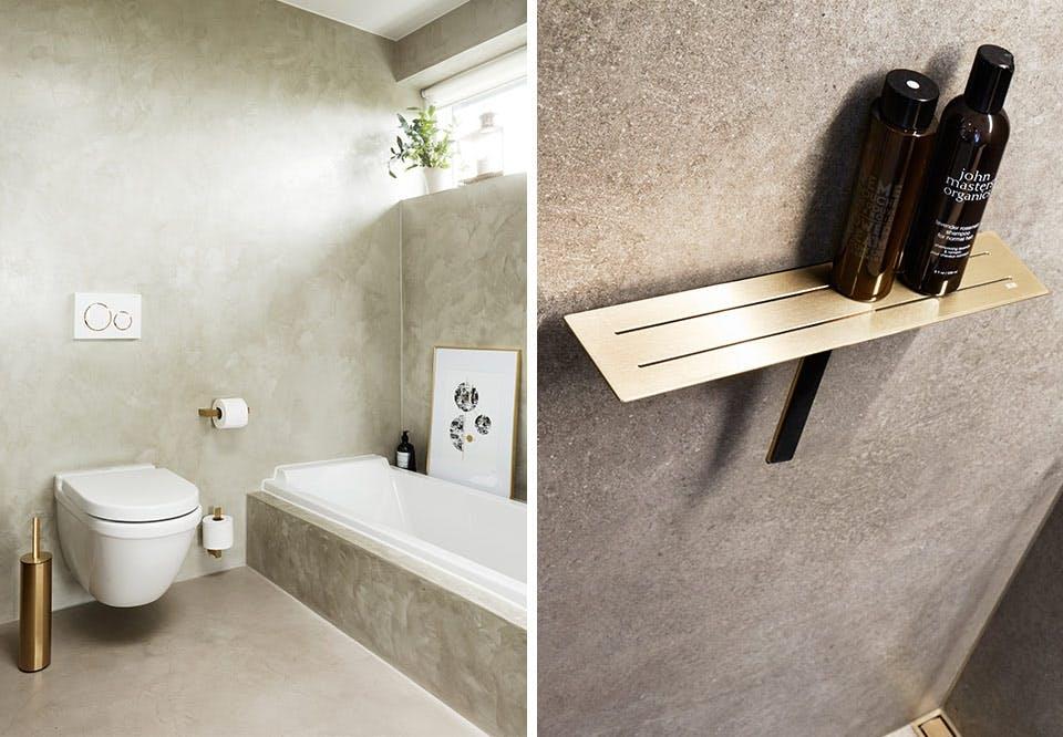 Unidrain reframe badeværelse toilet tilbehør messing