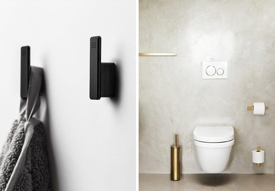 Unidrain reframe badeværelse toilet tilbehør messing metal håndklæde