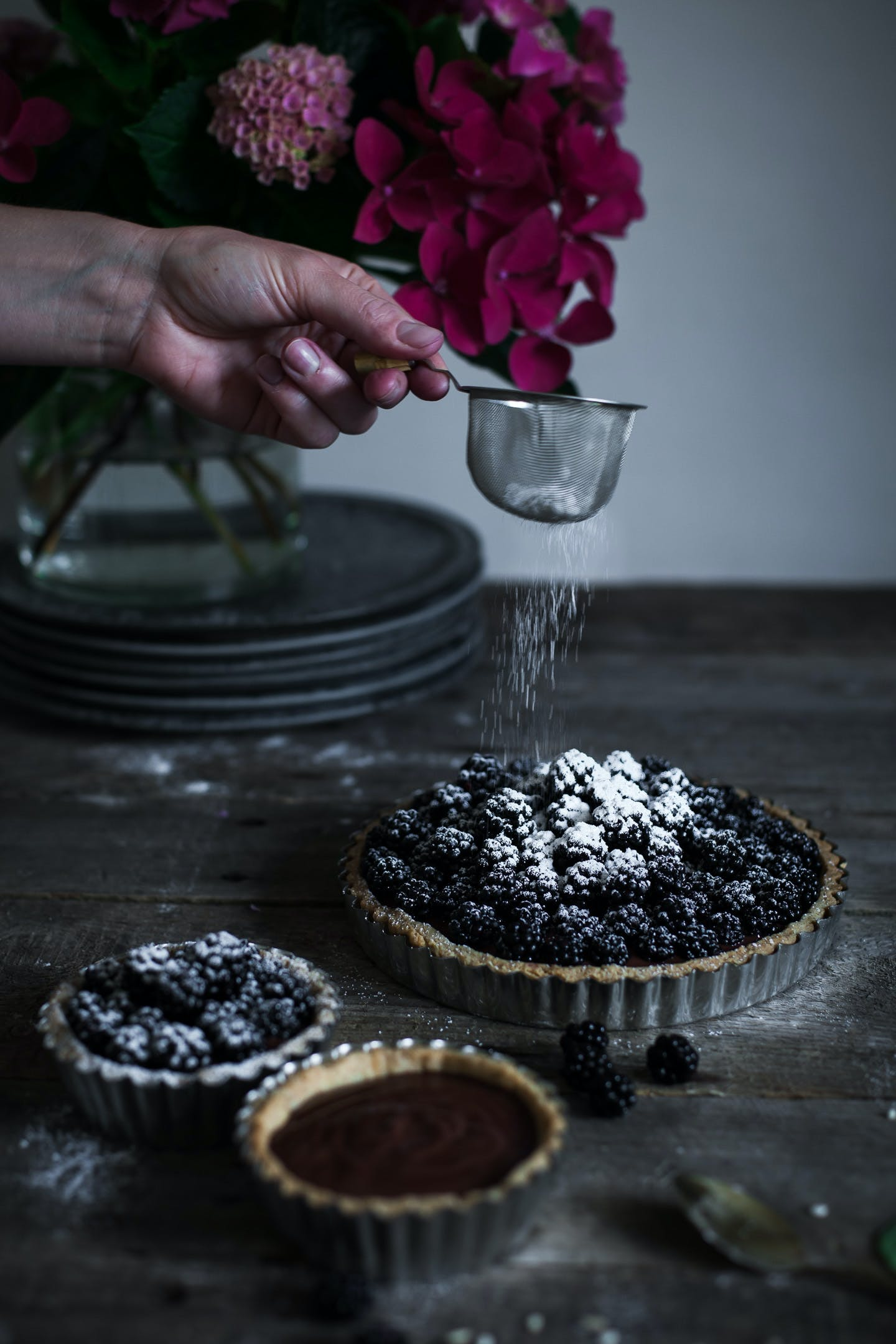 blueberry tales brombærtærte flormelis