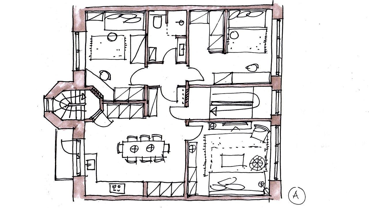 sammenlagt lejlighed indretning soveværelse