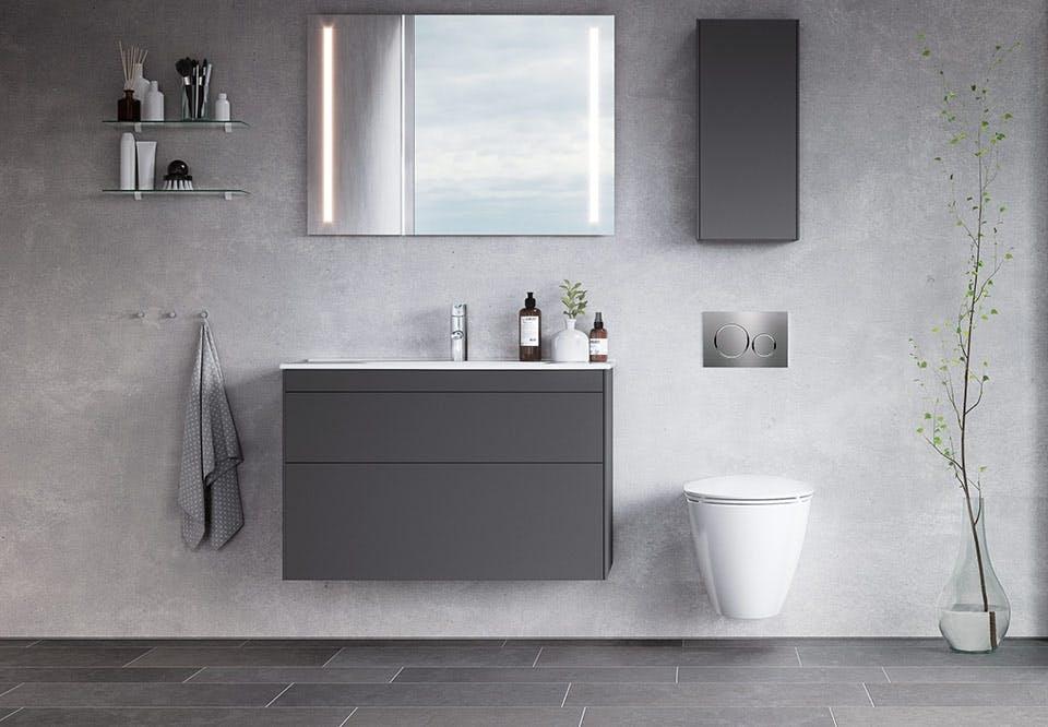 smukke farver på badeværelset skandinavisk stil ifo sense elementer