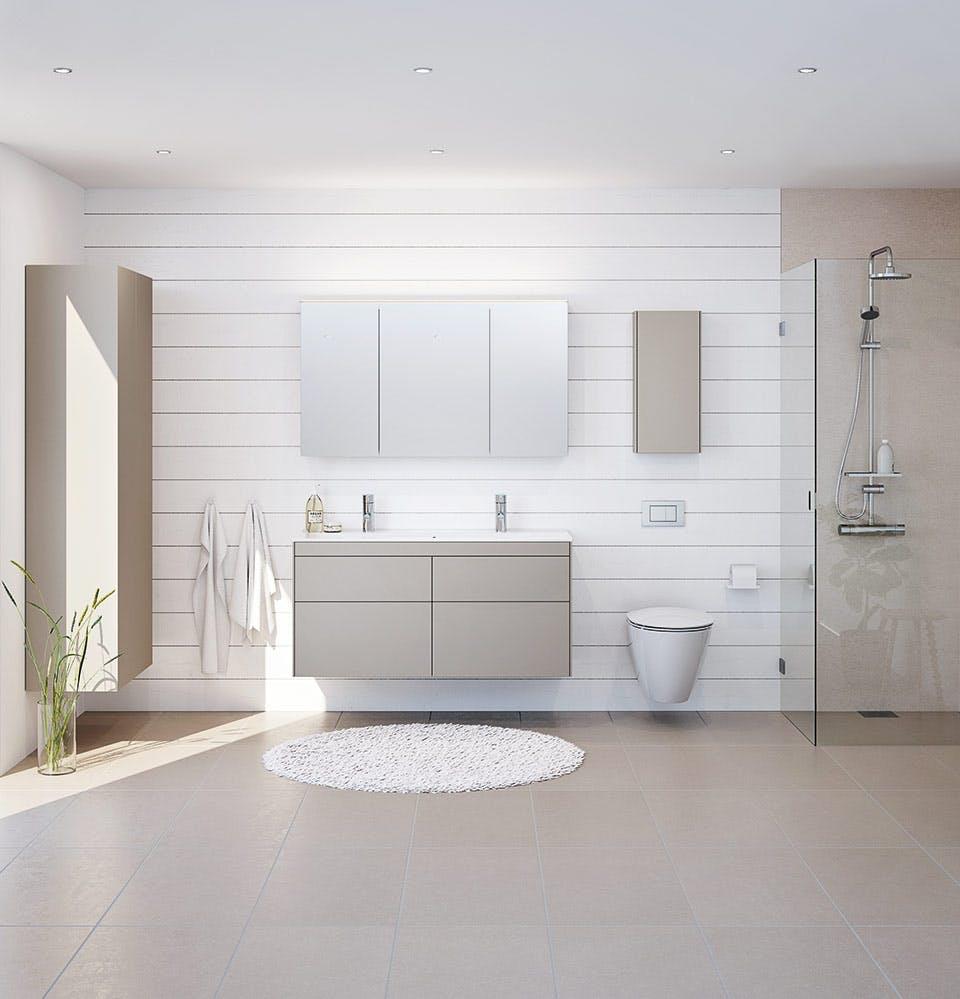 indret med nordiske farver på badeværelset god stemning skab ifo sense