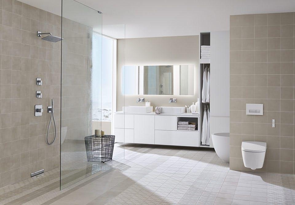 skandinavisk badeværelse indret design toilet geberit aquaclean sela