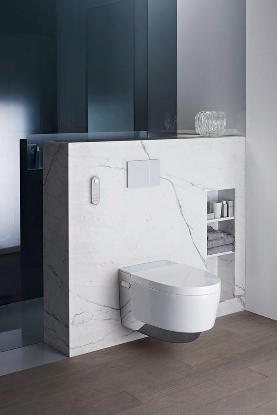 douchetoilet geberit aquaclean mera toilet i gennemført design til badeværelset
