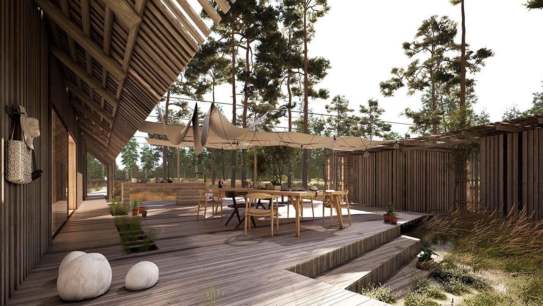 Erik Juul sommerhus med terrasse
