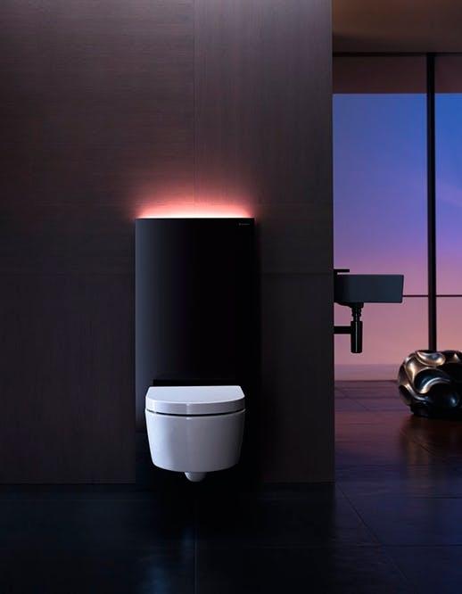 lys på badeværelset geberit monolith plus modul til toilet
