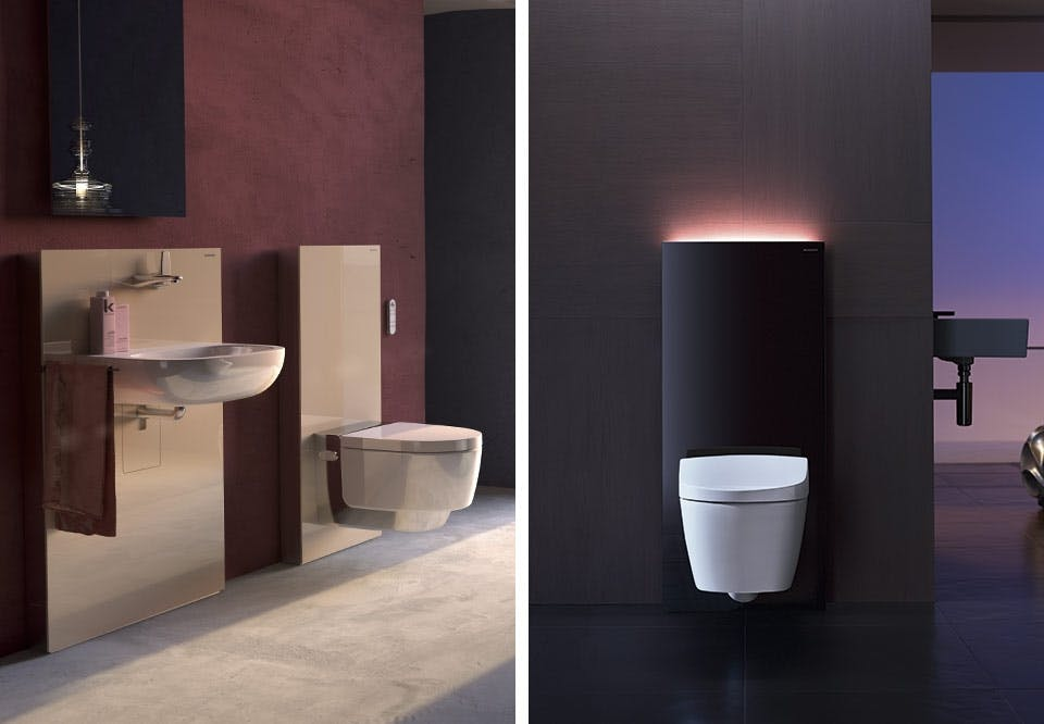 Geberit AguaClean Mera Monolith moduler toilet badeværelse