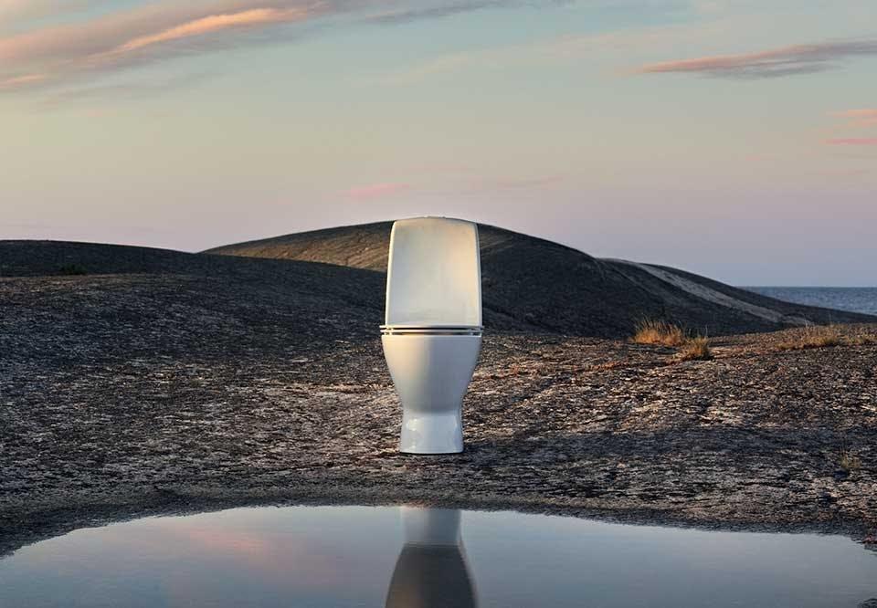Ifö Spira Art toilet badeværelse design skandinavisk