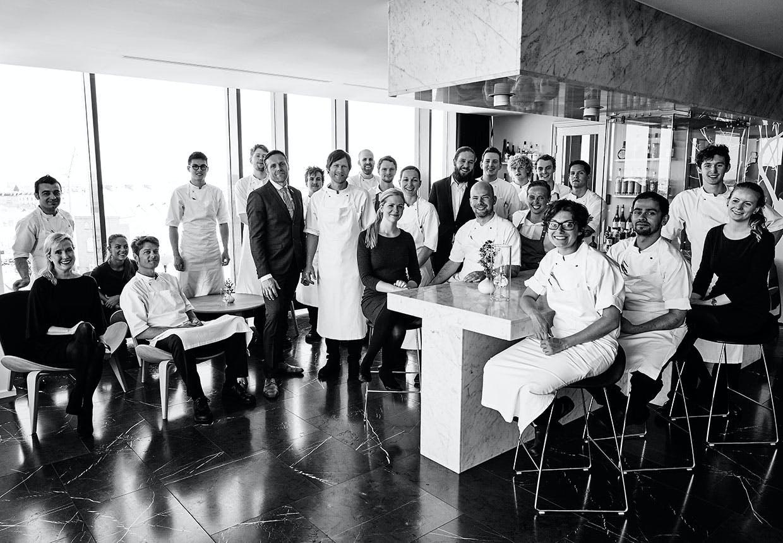 Staben på Geranium - stadig Danmarks eneste trestjernede Michelin-restaurant.