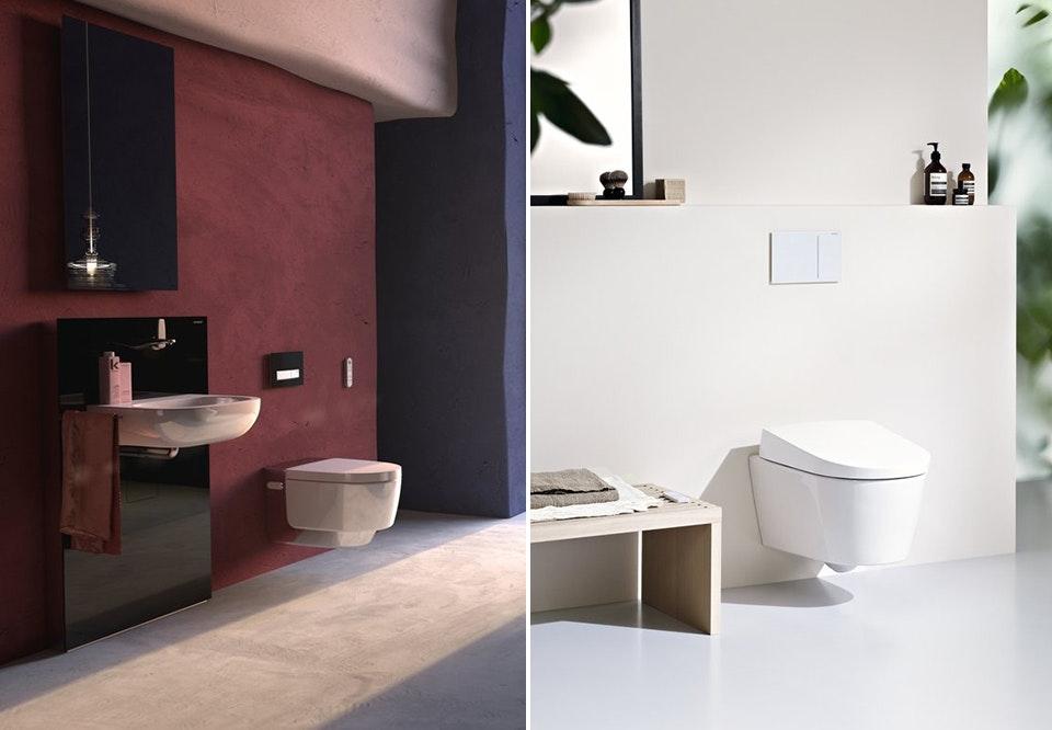 Geberit AquaClean Mera toilet og Geberit AquaClean Sela