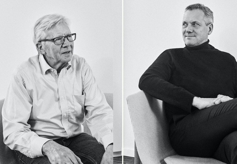 Tidl. direktør Simon Hansen og nuværende direktør Bjarne Hansen