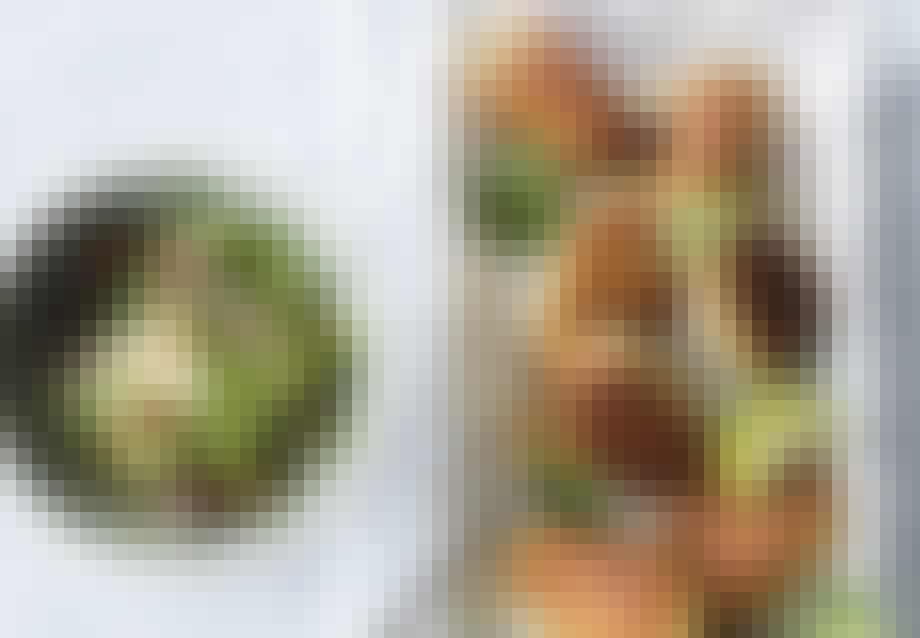 Torskedeller med spicy agurker