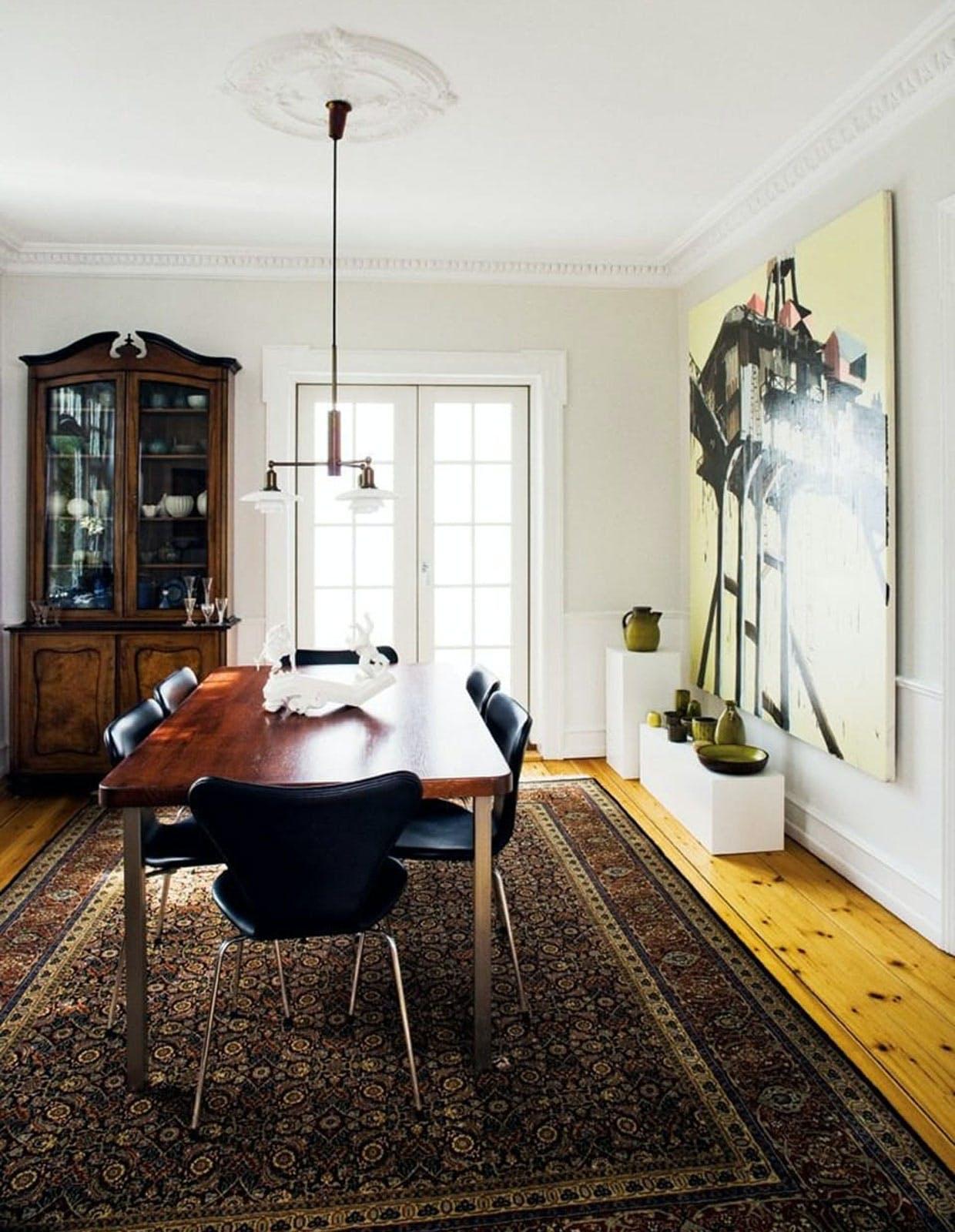 Nyklassicistisk stue i murermestervilla.