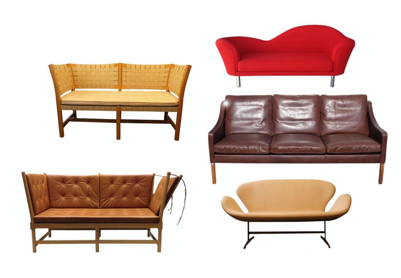 Danske designermøbler, som er blevet istandsat af Klassisk Møbelsalg