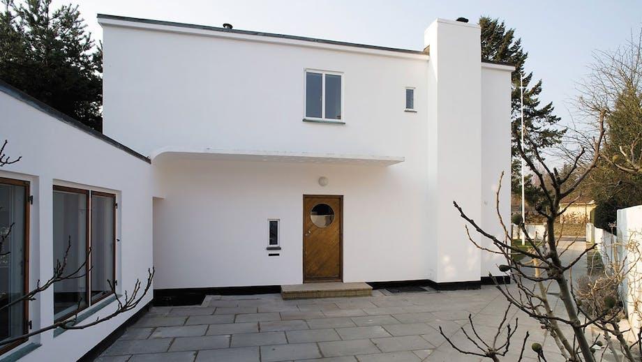 Hoveddøren i Arne Jacobsens egen funkisvilla på Gotfred Rodes vej nr. 2
