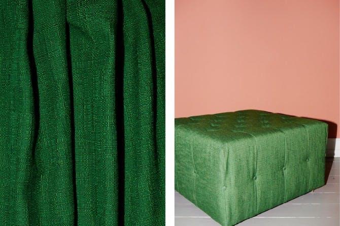 Grøn puf fra Tapet Café