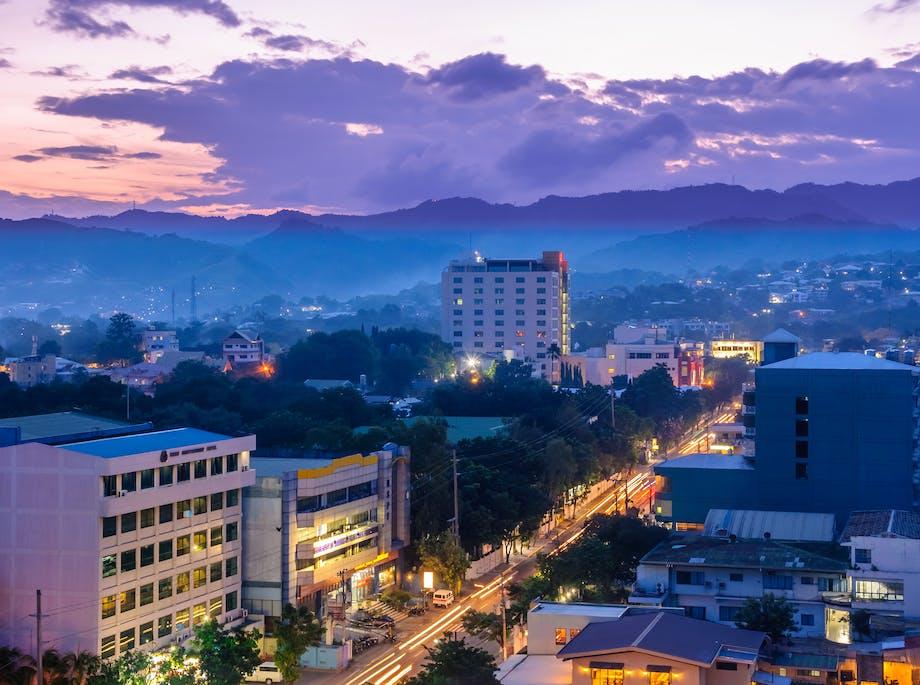 Solnedgang over Cebu