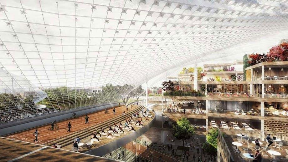 """Ingels og Heatherwicks vision af """"Googleplex"""" i Californien."""