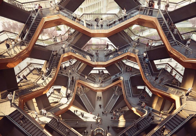 Heatherwick staircase, Manhattan