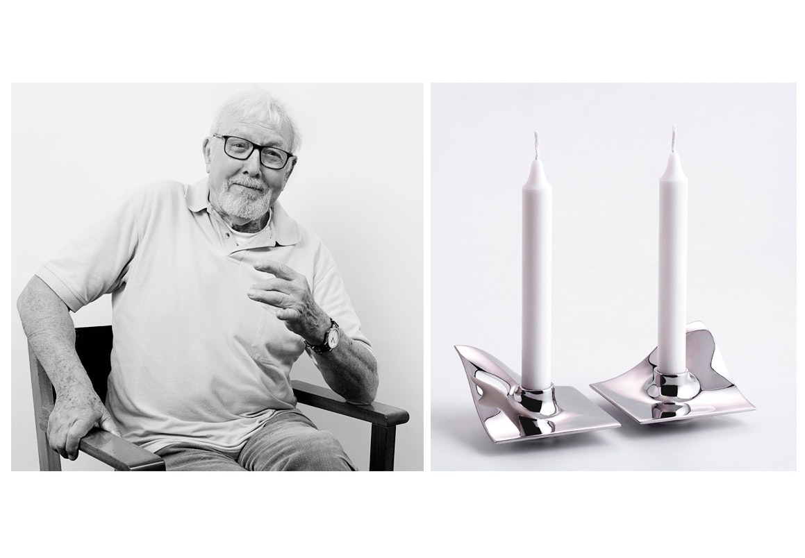 Hans Bølling og den nye relancering fra  ArchitectMade, Quartet-lysestagen