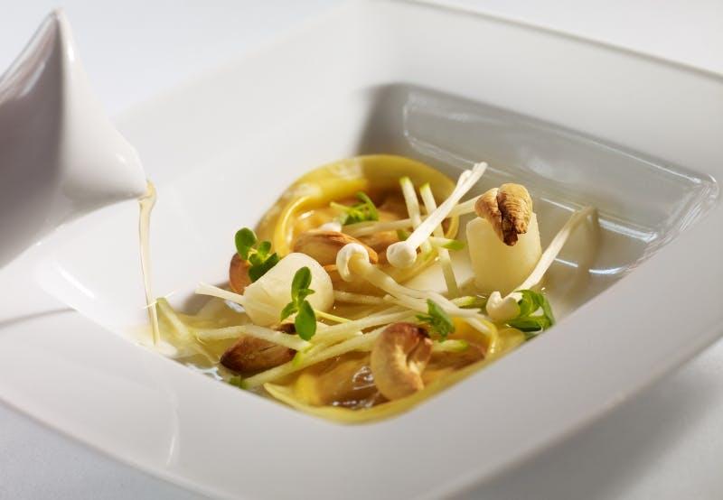 Lækker svamperet fra Restaurant Piaf i Silkeborg