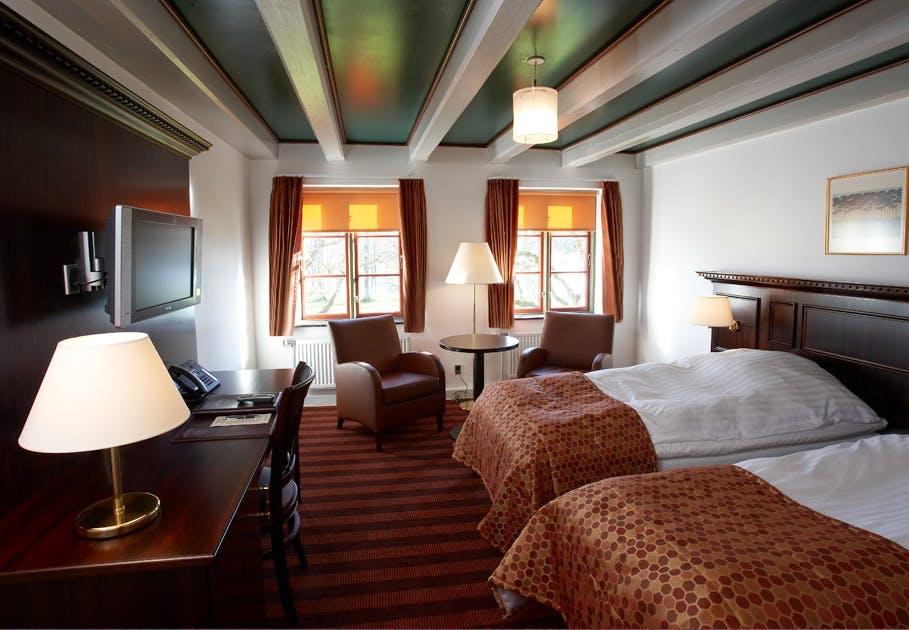 Luksuriøst hotelværelse på Kongensbro Kro