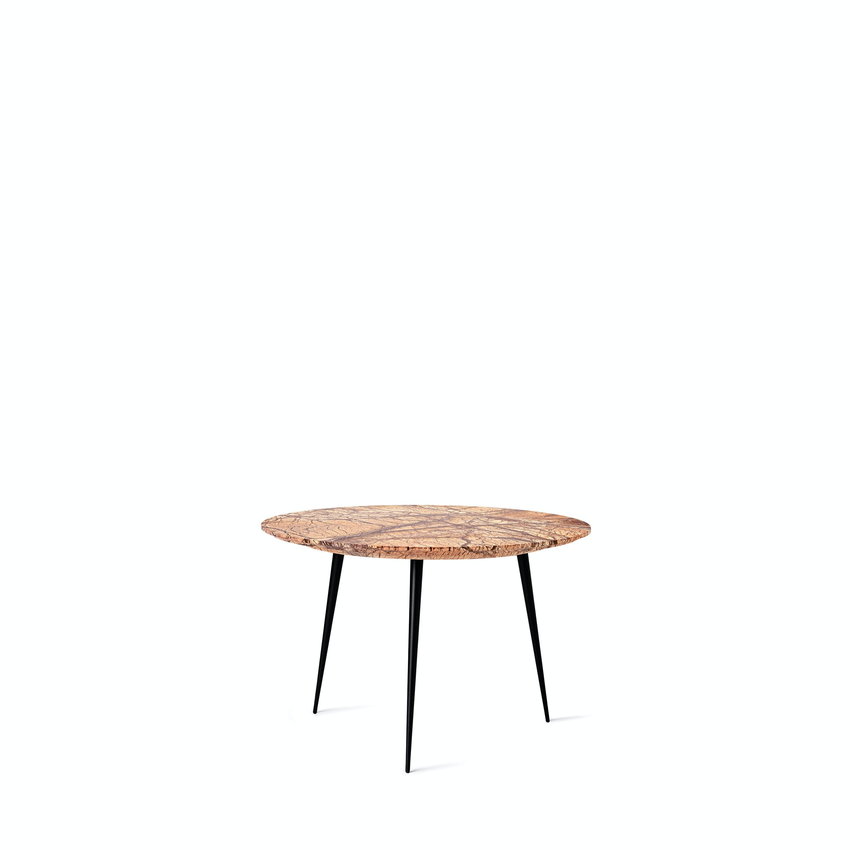Marble Disc Table i jungle brun