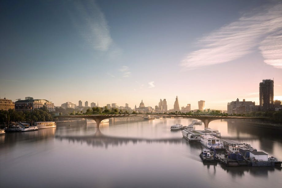 Thomas Heatherwicks Garden Bridge i London