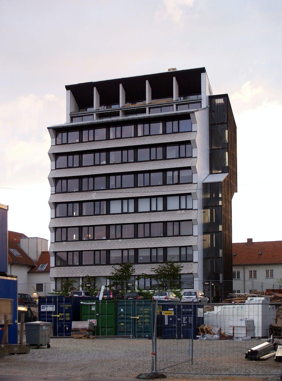 Utzons Hammershøj højhus i Helsingør oprindeligt tegnet af Jørn Utzon.