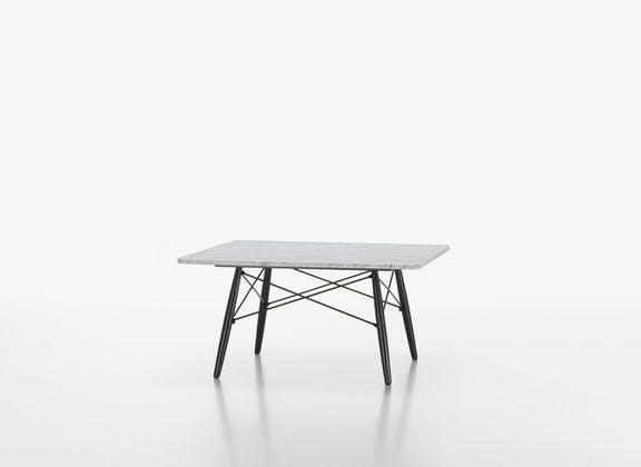 Eames Coffee Table i kvadratisk form og i hvid marmor