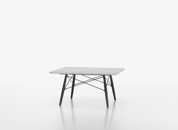 Eames Coffee Table i kvadratisk form og i hvid marmor