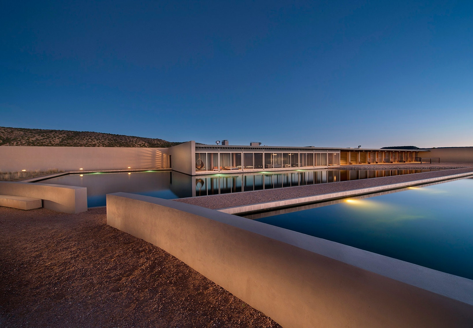 Tom Fords ranch i New Mexico tegnet af Tadao Ando