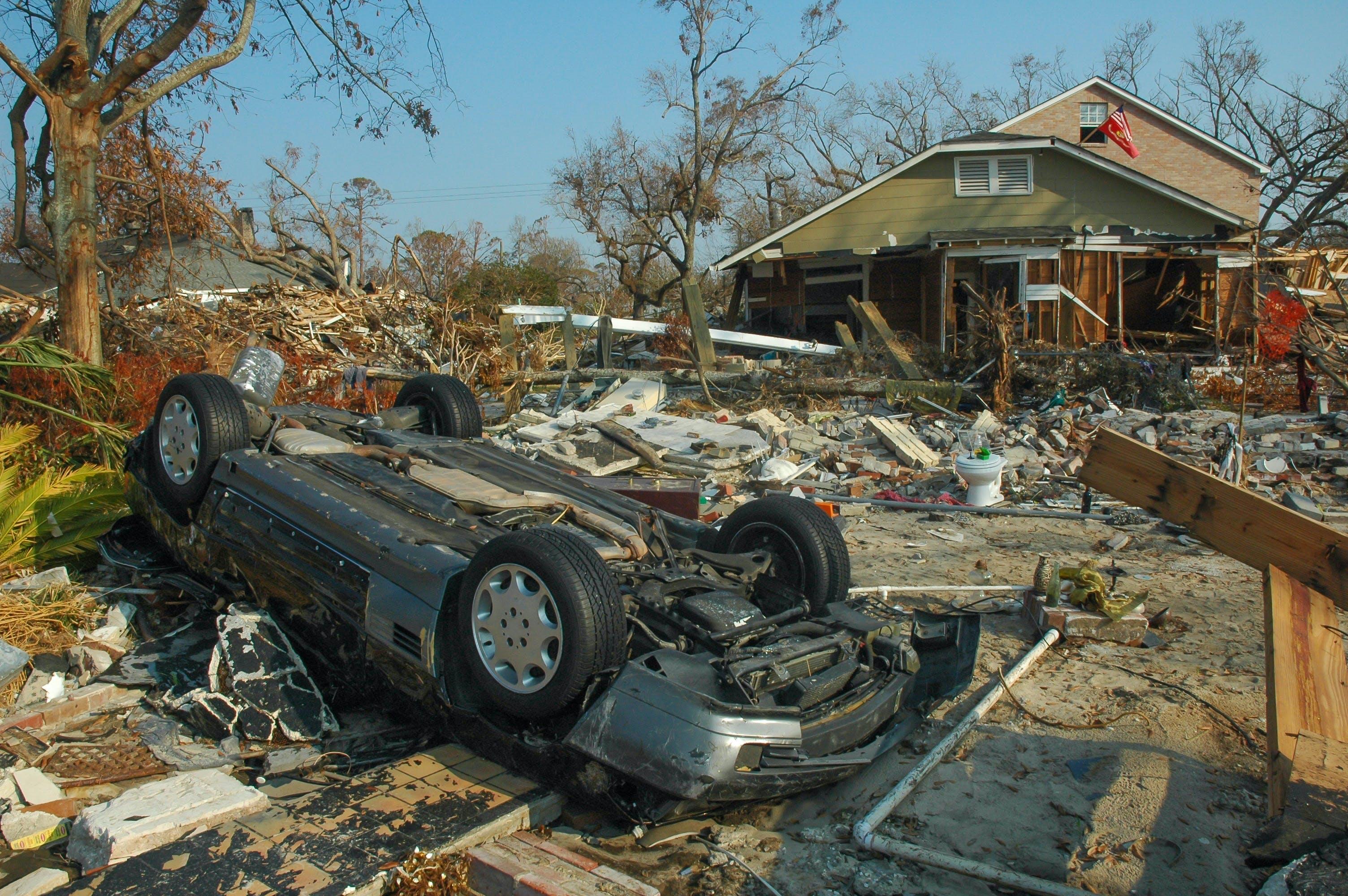 Gulfport, MS, USA få dage efter katastrofen i New Orleans i 2005