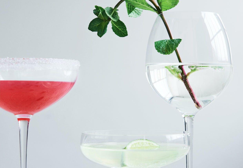 Drink: Hyldeblomst-mynte-martini