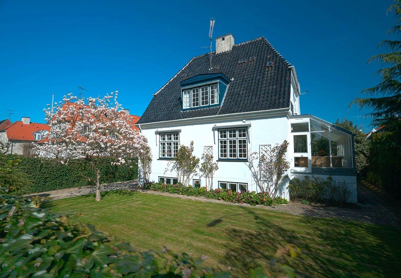 Susse Wold og Bent Mejdings villa på Frederiksberg