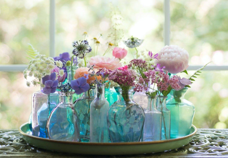 Små blomsterbuketter