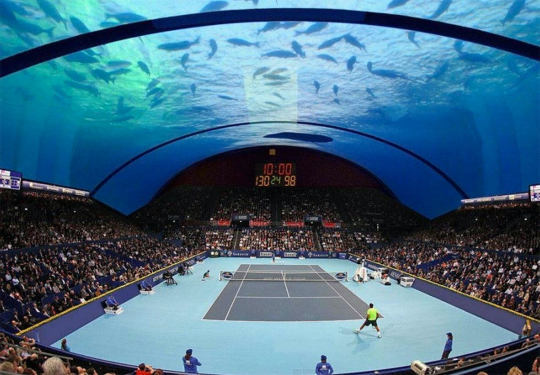 Tennisanlæg under vand i Dubai