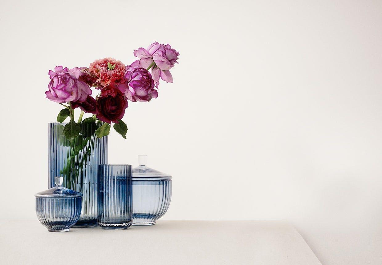 Den nye blå glas serie fra Lyngby Porcelæn