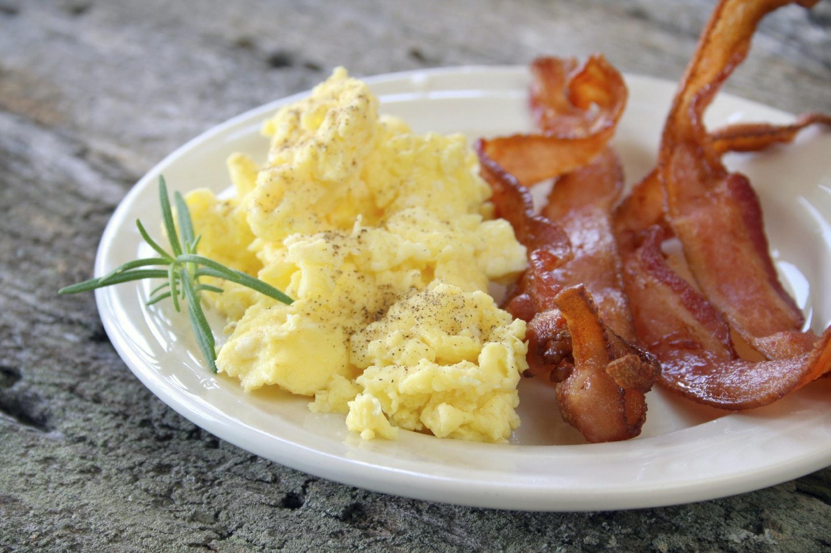 bacon og æg
