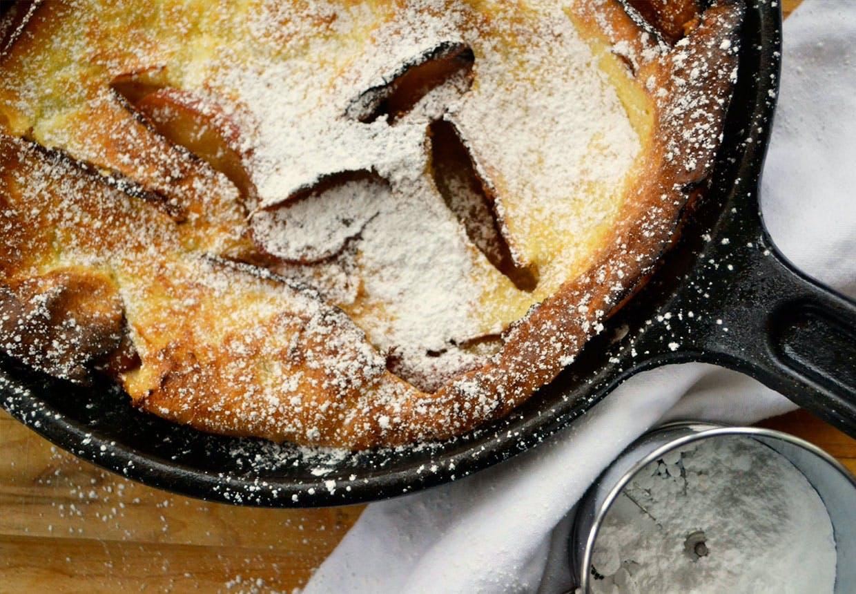 pandekage med æbler